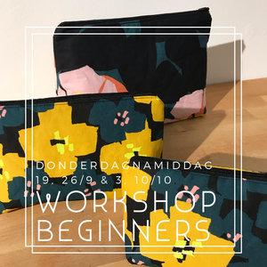 Workshop voor beginners - donderdagnamiddag 19, 26/9 en 3 & 10/10