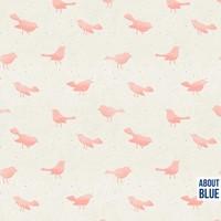 About Blue Fabrics - Birdy soft pink