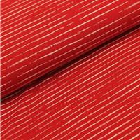 Megan Blue Fabrics - Single Stripes - Dark Rood/Wit