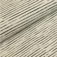 Megan Blue Fabrics - Single Stripes - Wit/Zwart