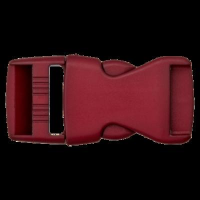 Klikgesp - bordeaux - 25 mm