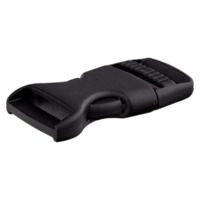 Klikgesp - zwart - 25 mm
