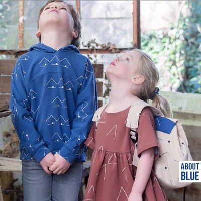 About Blue Fabrics - Victoria Sky Blue - French Terry