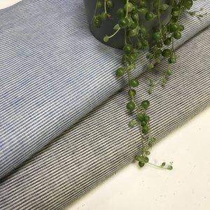 Seersucker - blauw-wit