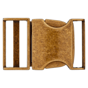 Klikgesp - metaal - brons - 25 mm