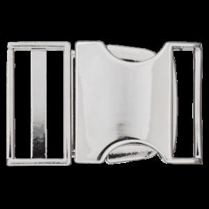 Klikgesp - metaal - zilver - 25 mm