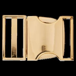 Klikgesp - metaal - goud - 25 mm