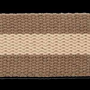 Tassenband - Taupe-Beige streep - 40mm