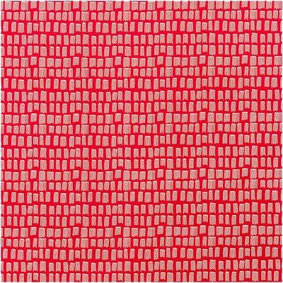 Rico Design - Red strokes - katoen