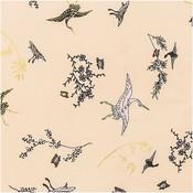 Rico Design - Kraanvogels beige - katoen