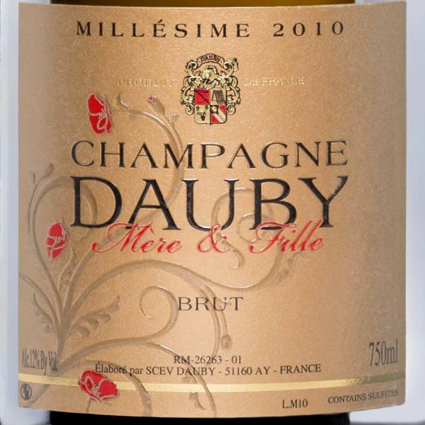 DAUBY MERE & FILLE CHAMPAGNE DAUBY Millésime 2012