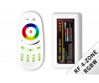 RF RGBW controller with remote control, 12-24V, 24A