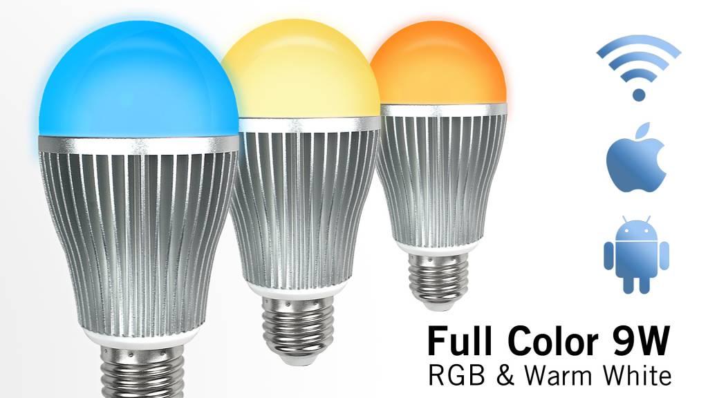 Super Saver 3-PACK 9 Watt Wi-Fi LED bulbs + Wifi Box + Remote