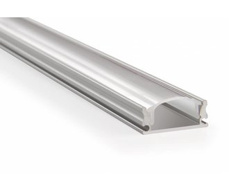 LED profile aluminium 2 meter, incl. mist cover, 2m x 17mm x 07 mm