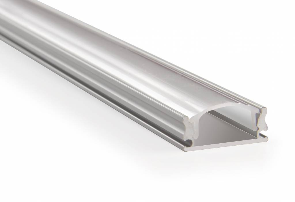 LED aluminium profile 2 meter, incl. mist cover, 2m x 17mm x 7mm