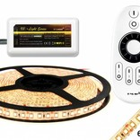 Dimmable LED strip set Warm White 5 m. 600 leds 48W RF remote