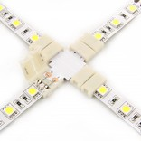 White LED strip X-connector