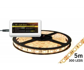 Dimmable LED strip set Warm White 5 m. 300 leds 72W (Add-on)