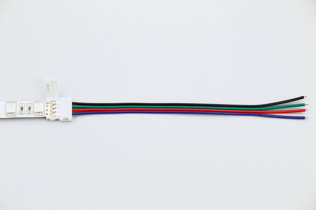 RGB LED strip solder free pigtail 15cm