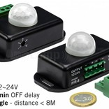 PIR motion sensor, movement sensor 12-24 / 6A, 60 ° angle, 1 ~ 10 min.