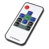 Mini LED strip RGB controller with RF remote control, 12A, 5V-24V
