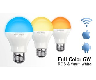 AppLamp Wifi LED Lamp 6W RGB Full Color + Warm White 3000K