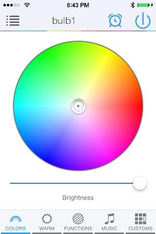 LED Magical Bluetooth LED bulb 16M colors and warm white, wake-up light (V2)
