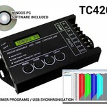 TC420 LED time controller 5 channel timer, 24 hour sunset schedule timer switch