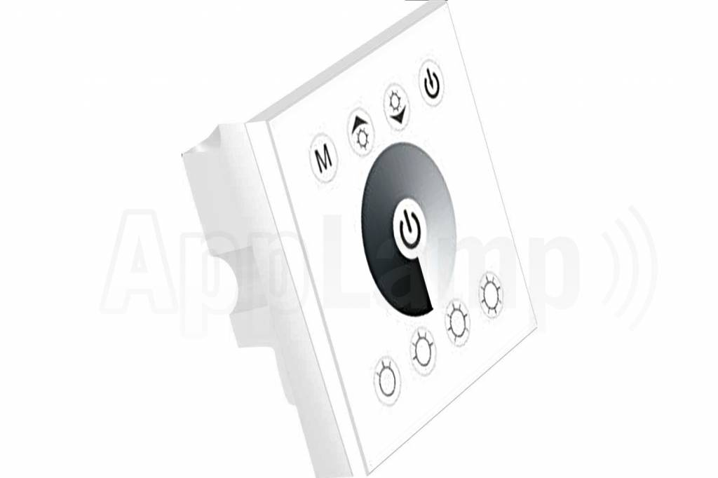 LED strip recessed wall dimmer, Touch panel, 12-24V, White