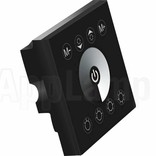 LED strip recessed wall dimmer, Touch panel, 12-24V, Black