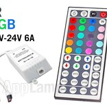 IR RGB LED-strip Controller with infrared receiver and 44 KEY remote control