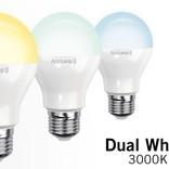 AppLamp Set of 2 E27 Dual White 5W LED bulbs + Remote control