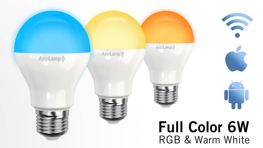 Super Saver 4-PACK 6Watt E27 Wi-Fi LED bulbs + Wifi Box + Remote
