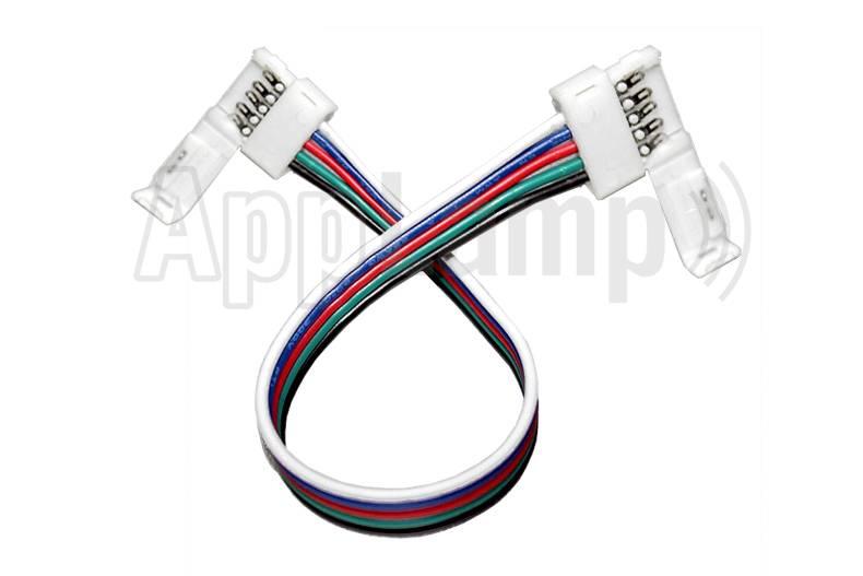 Flexibel connector for RGBW LED strips, 15cm, solder-free