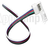 RGBW LED strip solder free pigtail 15cm