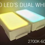 WiFi set Dual White LED strip 600 leds. Variable color temperature 2600K~6000K