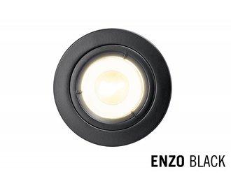LED Recessed lighting trim ENZO, GU10 Fixture, Black round
