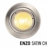 LED Recessed trim ENZO, GU10 Fixture, Satin Chrome round
