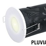 LED Recessed lighting trim PLUVIA, GU10 Fixture, White Round, IP54 Bathroom