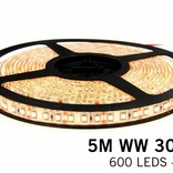 AppLamp Warm WhiteLED strip 5 meter, 600 leds type 3528 12V 48W