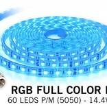 Waterproof RGB LED strip IP68 with 300 RGB LEDs 12V, 72W, 5M