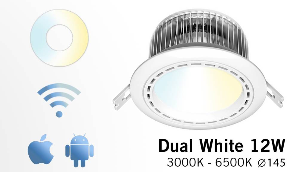 AppLamp LED recessed downlight 12 Watt dimmable + Power supply