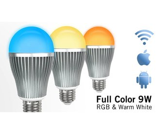AppLamp Wifi LED Bulb 9W RGB Full Color + Warm White 3000K