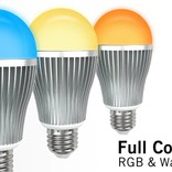 AppLamp Set of 8 wireless Multicolor RGBW 9W LED bulbs + Remote control