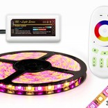 RGBW LED strip set 360 leds, Warm White & RGB color, 5 m. with RF remote control