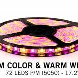 RGBW LED strip set 360 leds, Warm White & RGB color, 5 m. with RF remote control
