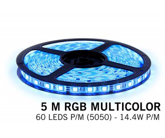 AppLamp RGB LED strip 5 meter, 300 SMD5050 leds on ribbon