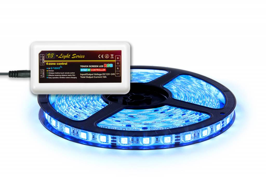 AppLamp 5m. RGB LED strip with controller and adapter, 300 leds SMD 5050