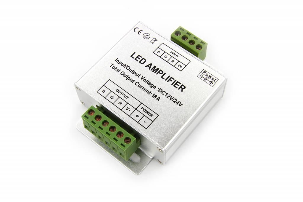 RGB Ledstrip Signal Amplifier 3 x 6Amp