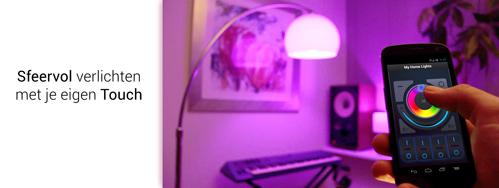 Domotica WIFI LED lampen, kleurlampen, LED strips en verlichting voor smartphone en tablet